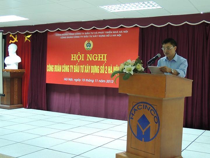 Hội nghị công đoàn công ty đầu tư xây dựng số 2 Hà Nội