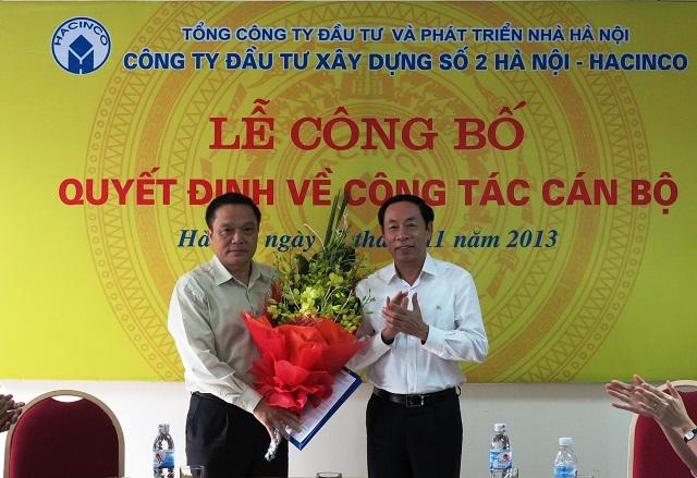 Lễ công bố Quyết định về công tác cán bộ Công ty Đầu tư Xây dựng số 2 Hà Nội
