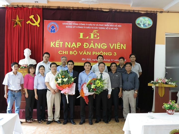 Lễ kết nạp đảng viên của chi bộ văn phòng 3